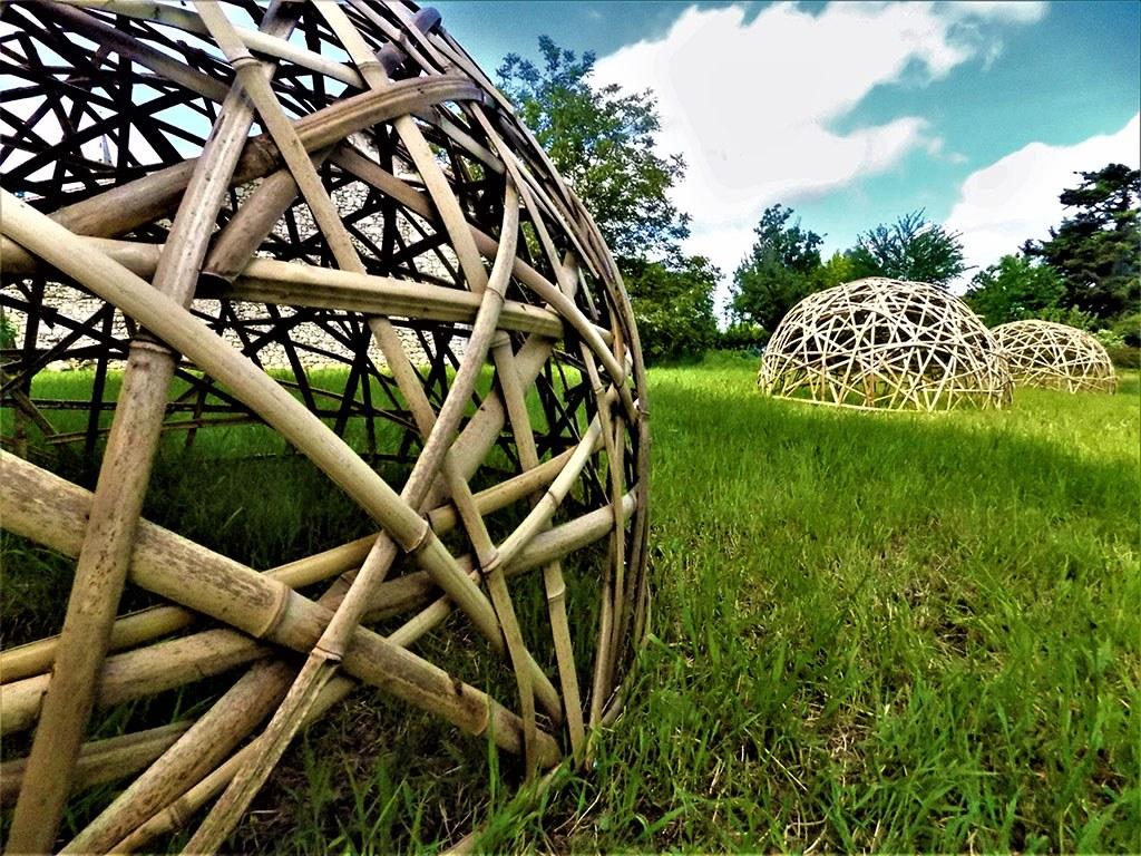 Exemple de réalisation de dome en bambou